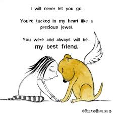 pet condolences you will always be my best friend bereavement card and