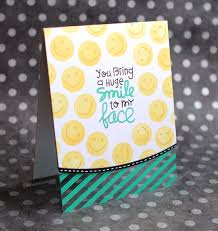 smiley card ft paper smooches sts flash sale at