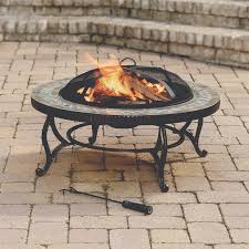 Fire Pit Ring With Grill by Pleasant Hearth 34