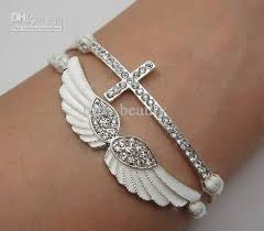 bracelet with cross images 15offdiamond cross bracelet wings bracelet crystal bracelet jpg