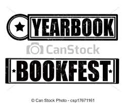 free yearbook search st with text yearbook inside vector illustration clip