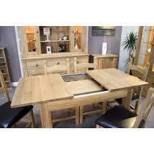 Milano Opus Oak Extending Dining Table - Light oak kitchen table