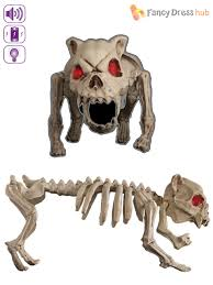 animated light up skeleton dog cat halloween party prop decoration