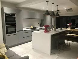 my kitchen is pinworthy at last matt grey handless kitchen with