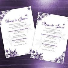 purple and silver wedding invitations shop winter wedding invitations on wanelo