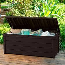 Storage For Patio Cushions Outdoor Storage Benches Amazon Com