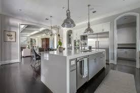 gray kitchen island kitchen island waterfall fattony