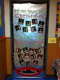 Classroom Door Christmas Decorations 53 Best Door Decorations Images On Pinterest Christmas Door