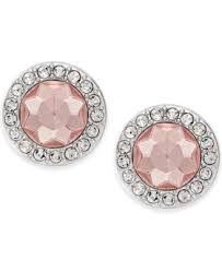 pink stud earrings charter club silver tone pink stud earrings fashion