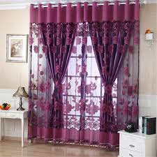 Decor Beaded Window Curtains Beaded by Aliexpress Com Buy Elegant Flower Print Tulle Door Drape Window