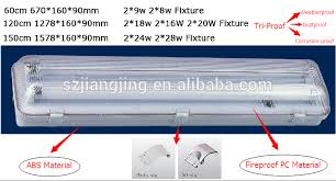 ip65 weatherproof led fluorescent lighting fixture 2 18w