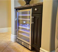 Built In Refrigerator Cabinets Brilliant Wine Cooler Cabinets Furniture And Best 25 Built In Wine
