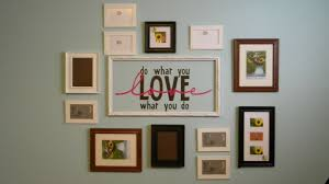 Pottery Vase Painting Ideas Home Entrance Wall Decor From Photo Frames In Tiles Arrangement