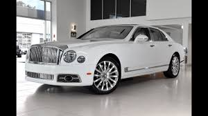 suv bentley white the best 2018 bentley mulsanne mulliner youtube