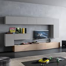 Wohnzimmerschrank Beleuchtung Imposing Moderner Wohnwand In Nussbaum Satin Beleuchtung 3 Teilig