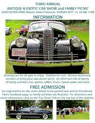 antique cars car showsunday september 11 2016 u2013 final details of car show and
