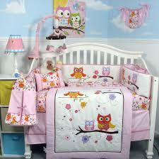 Bedroom Attractive Pink Gray Crib Bedding Nursery Machine