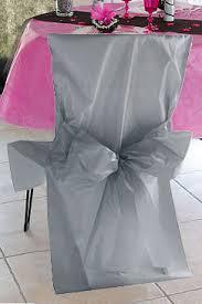 housse de chaise mariage jetable housses de chaise mariage satin avec noeud decoration mariage