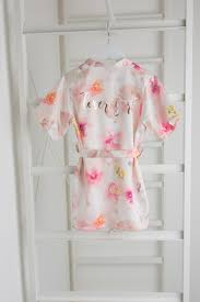 wedding dressing gowns flower girl pink floral wedding dressing gown the boutique co