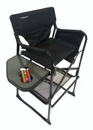 Folding Directors Chair With Side Table Black Director S Chair High Director Chair Accessories