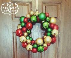 easy diy ornament wreath craft house