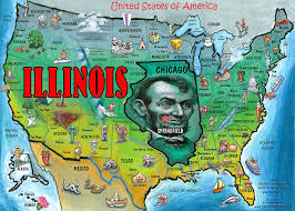 illinois map usa illinois usa map digital by kevin middleton