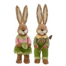 Easter Decorations Ebay by Easter Cute Bunny Rabbit Decoration Natural Sisal Fiber Straw