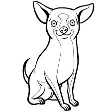 Coloriage Chien Chihuahua en Ligne Gratuit à imprimer