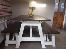 Bench Style Dining Tables Dining Table Picnic Bench Style Dining Tables 2018