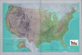 Map If The Usa by Large Detailed Shaded Relief Map Of The Usa Vidiani Com Maps