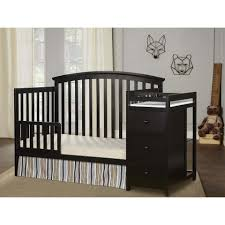 4 In 1 Convertible Crib by Dream On Me Niko 4 In 1 Convertible Crib With Changer Black