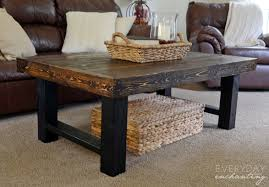 simple coffee table ideas black rectangle rustic solid wood simple coffee table design ideas