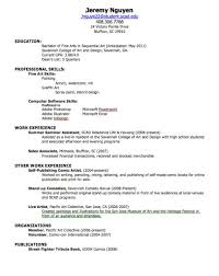 Entry Level Resume Sample No Work Experience by Resumes For Highschool Students Templates Virtren Com