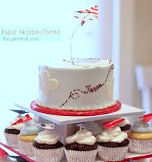airplane cake topper diy birthday party paper airplane theme