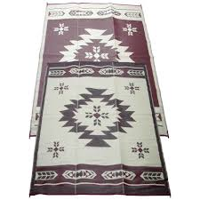 Camco Awning Mat Fireside Patio Mats Navajo Breeze Burgundy And Beige 9 Ft X 12 Ft