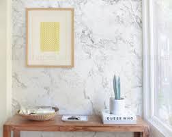 best repositionable wallpaper marble wallpaper etsy