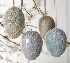 glitter easter egg ornaments sparkle ornament eggs pottery barn