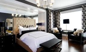 Bench Seat Bedroom Stunning Bedroom With White Bed And Brown Tufted Headboard Plus