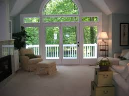 window living room contemporary with wood trim wood trim white