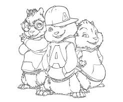 alvin chipmunks coloring pages boys coloring
