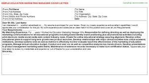 education marketing manager job title docs