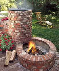 Brick Firepit Brick Pit All About Built In Barbecue Pits Barbecue