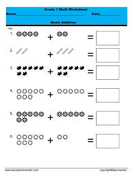 first grade math worksheet archives edumonitor