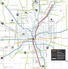 Map Indianapolis Major Transportation Plan For Indianapolis Could Link Region With