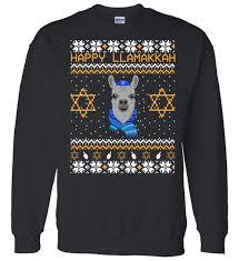 hannukah sweater happy llamakah hanukkah sweater teeshirtpalace
