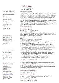 Resume Flight Attendant Resume Format For Cabin Crew Excellent Cabin Crew Resume Sample