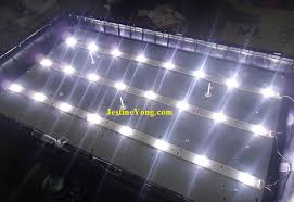 replacing led lights in tv how to repair led tv backlight problem no picture electronics