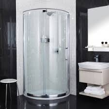 Corner Shower Stalls For Small Bathrooms by Modern Small Bathroom With Round Corner Shower Stalls And Glass