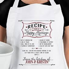 personalized wedding apron potholder recipe for a happy marriage