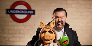 thanksgiving muppets muppets most wanted on set with ricky gervais kermit miss piggy